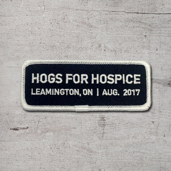 Hogs for Hospice Clothing Patch 2017