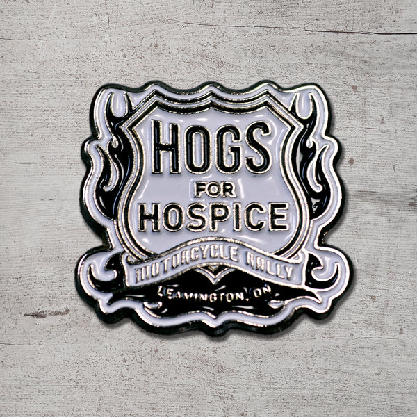 Hogs for Hospice Custom Enamel Pin