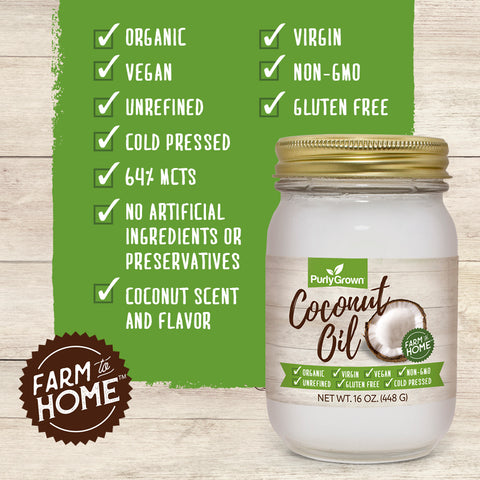 Purly Grown Organic Coconut Oil