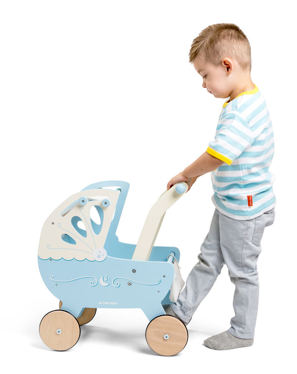 Le Toy Van Pram Moonlight Pram in Blue