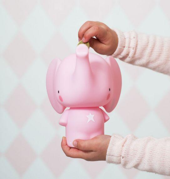 A Little Lovely Company - Pink Elephant Money Box - Scandibørn