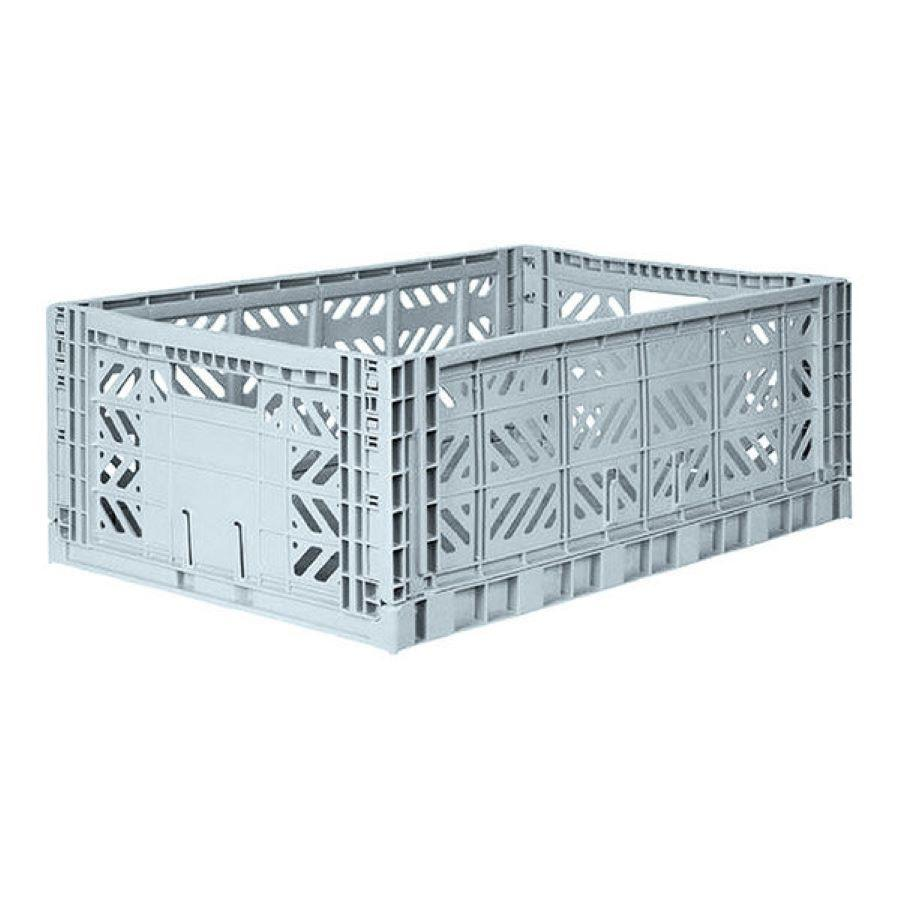 Ay-Kasa Folding Maxi Crate in Pale Blue