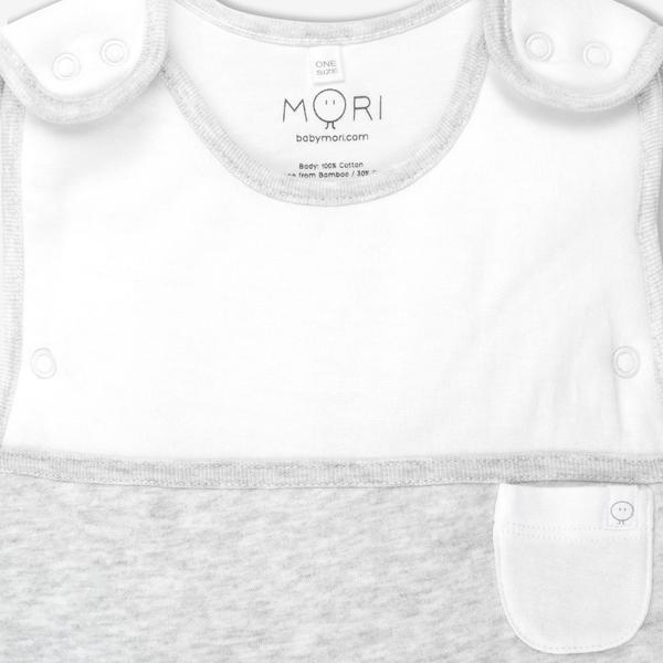Baby Mori Clever Sleeping Bag - Grey - Scandibørn