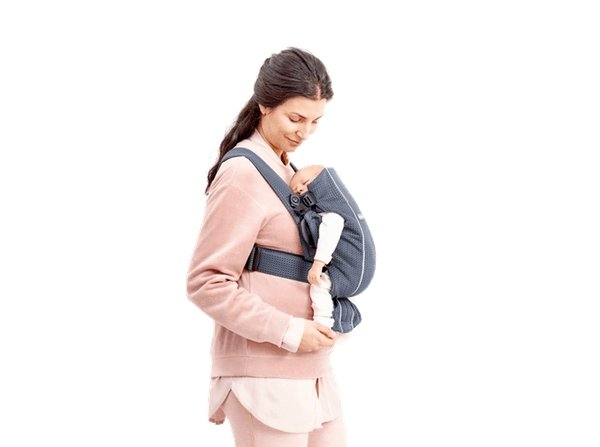 BabyBjorn Baby Carrier Mini - Dusty Pink Cotton - Scandibørn