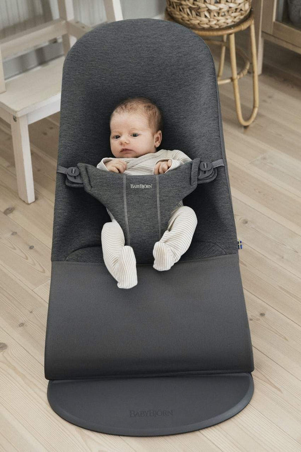 BabyBjorn Bouncer Bliss Soft Collection - Charcoal Grey 3D Jersey - Scandibørn