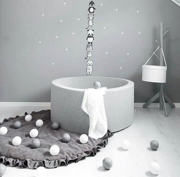 Ball Pit - LIGHT GREY - Choose your ball colours - Scandibørn