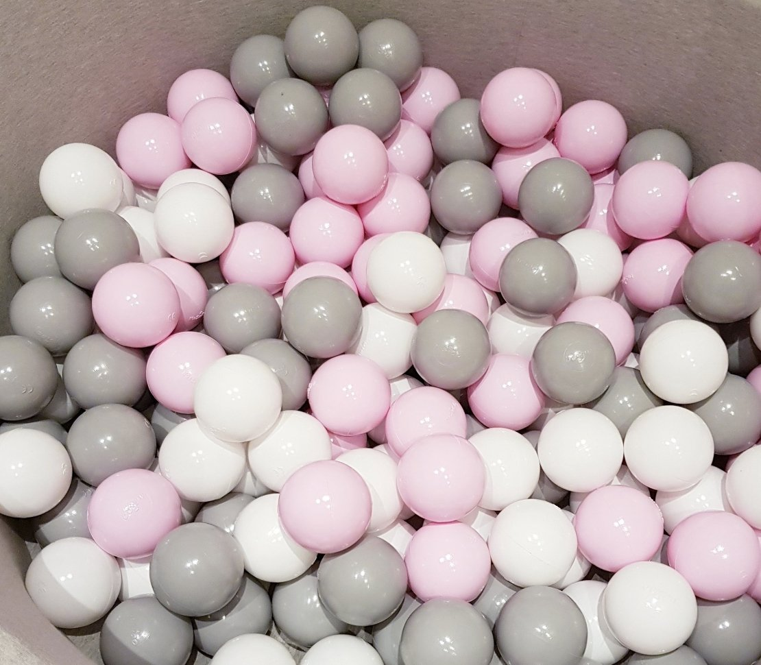 Ball Pit - MARBLE - Choose your ball colours - White-Pearl-Powder