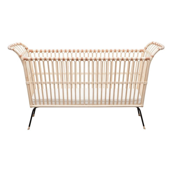 Bermbach Handcrafted Rattan FREDERICK Baby Bed with Mattress - Scandibørn