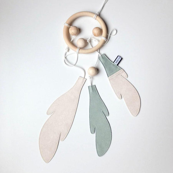 Bisou De Lou - Dream Catcher in Dusty mint and white - Scandibørn