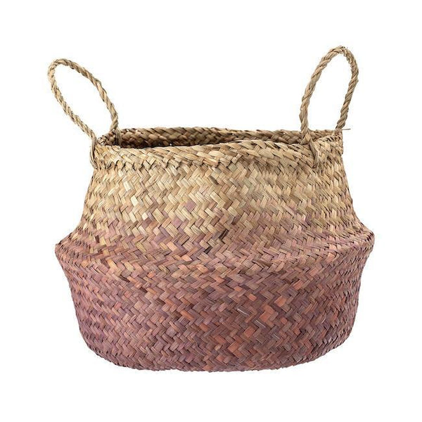 Bloomingville Seagrass Basket in Purple - Scandibørn