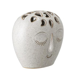 Bloomingville - Stoneware Vase in White - Scandibørn