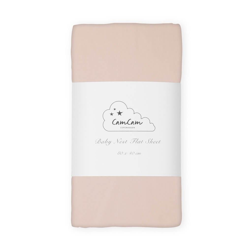 Cam Cam Baby Nest Flat Sheet in Blossom Pink (2 Pack)