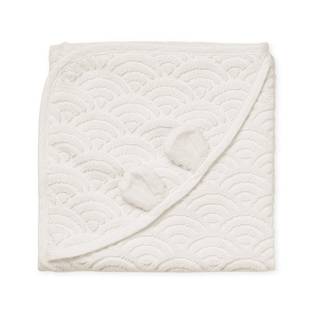 Cam Cam Baby Hooded Towel with Ears - Off White