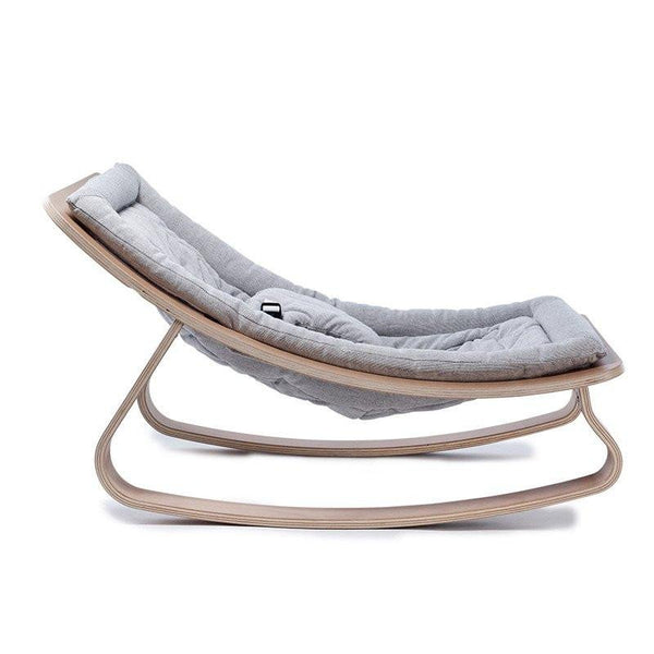 Charlie Crane Levo Baby Rocker in Beech and Sweet Grey - Scandibørn