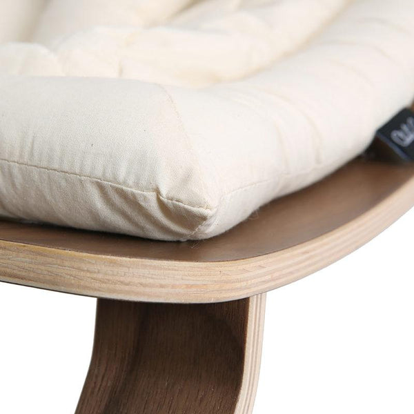 Charlie Crane Levo Baby Rocker in Walnut and Organic Off White Seat - Scandibørn