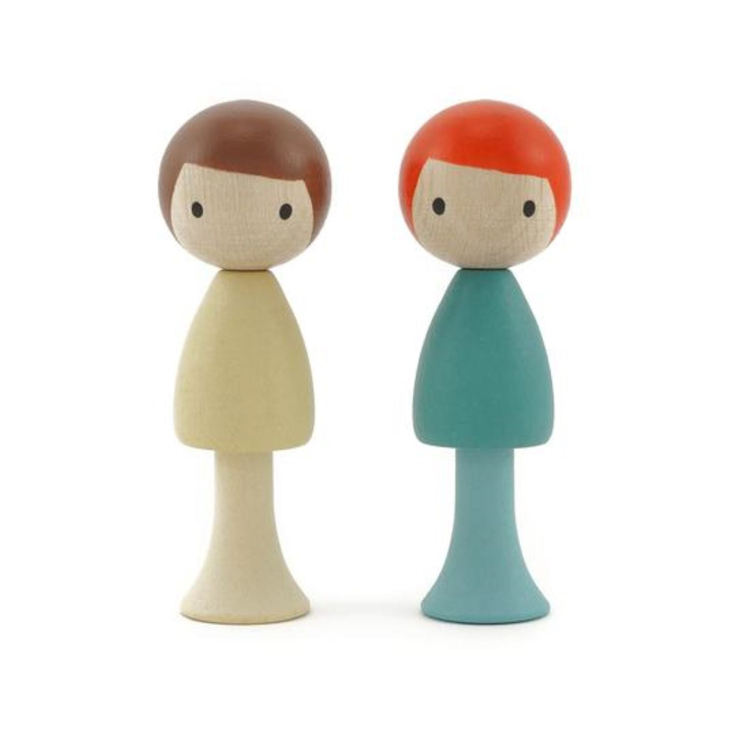 Clicques - Max and Emil Wooden Figurines
