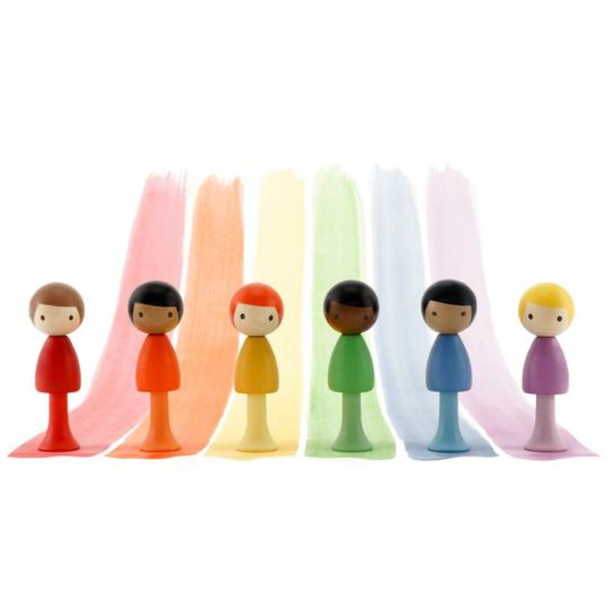 Clicques - Rainbow Boys Wooden Figurines
