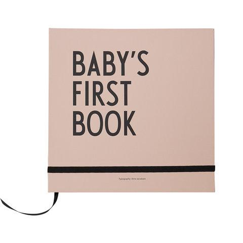 Design Letters Baby's First Book in Nude Pink - Scandibørn