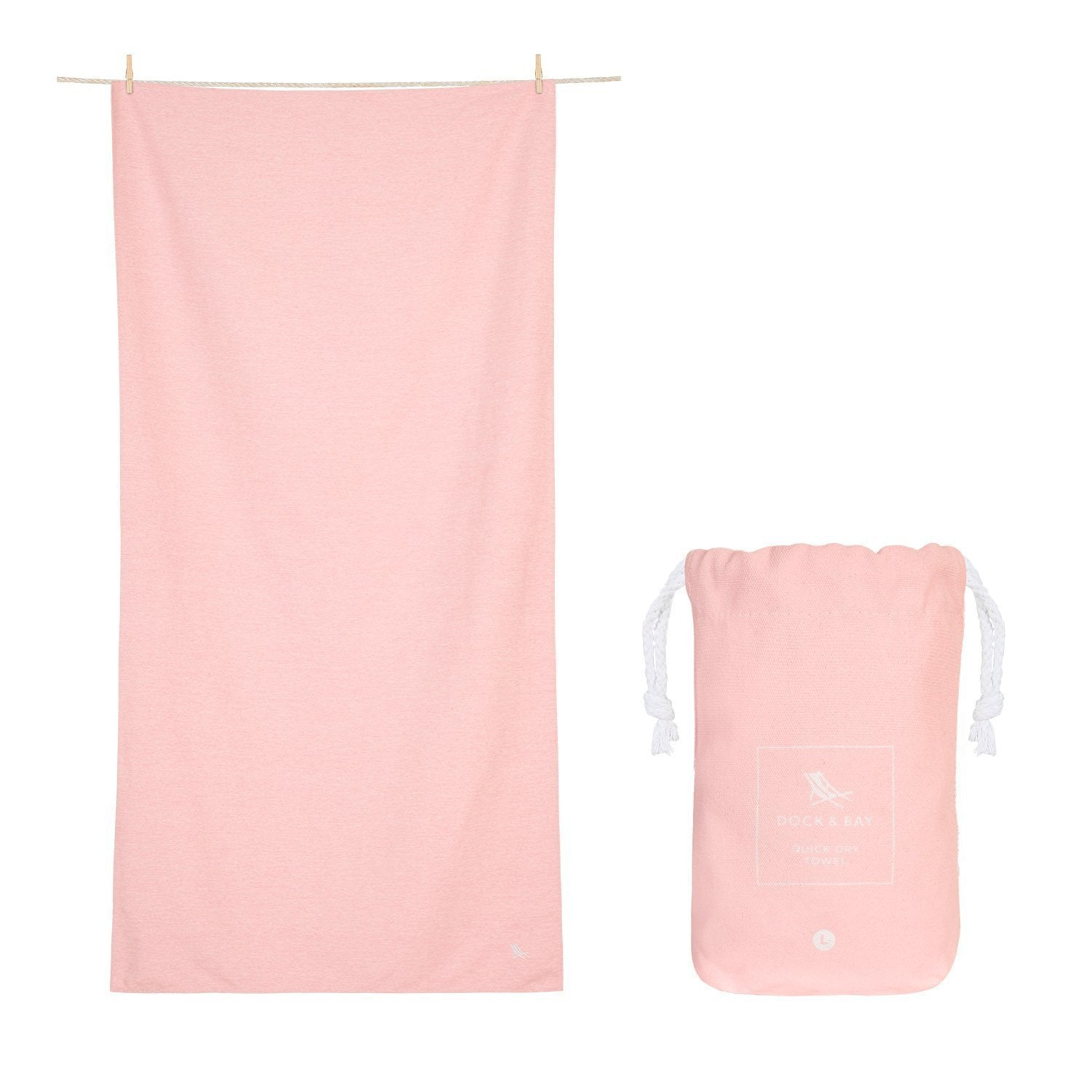 Dock & Bay Eco Towel in Island Pink - Large