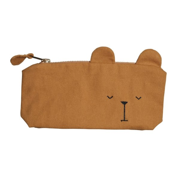 Fabelab Animal Pencil Case - Bear Ochre