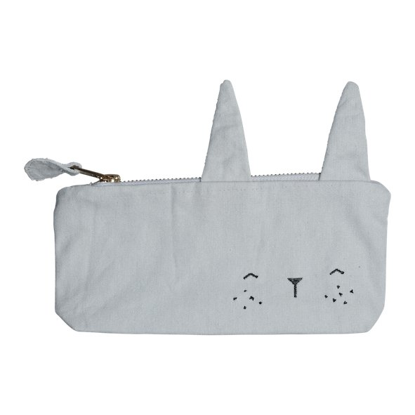 Fabelab Animal Pencil Case - Bunny Icy Grey