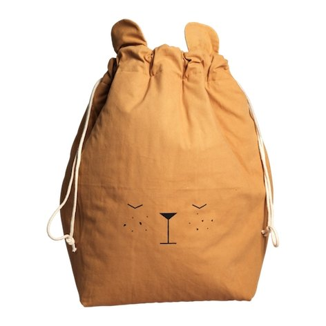Fabelab Storage Bag Bear Ochre - Large - Scandibørn