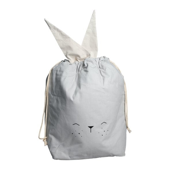 Fabelab Storage Bag Icy Grey Bunny - Large - Scandibørn