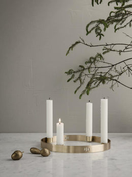 Ferm Living - Candle Holder Circle in Brass (Small ) - Scandibørn