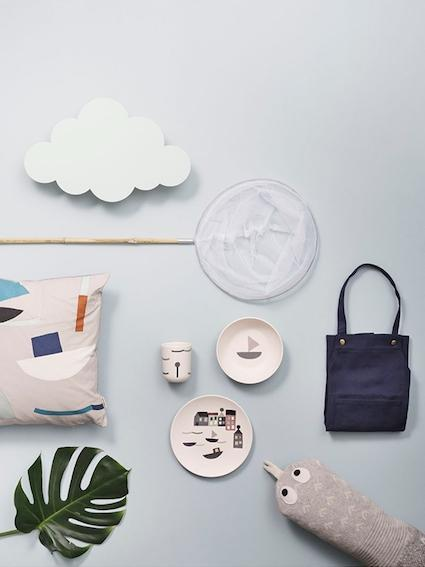Ferm Living Cloud Lamp - Mint - Scandibørn