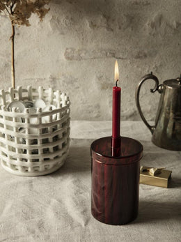 Ferm Living - Countdown to Christmas Candle in Dark Red - Scandibørn