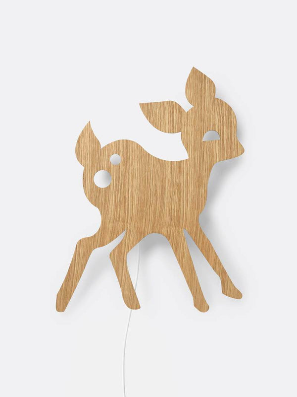 Ferm Living Deer Lamp - Oiled Oak - Scandibørn