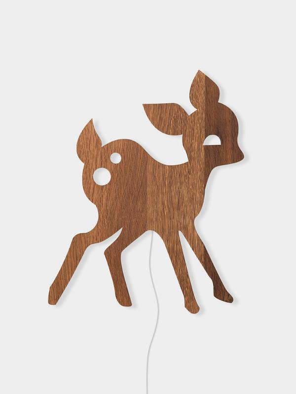 Ferm Living Deer Lamp - Smoked Oak - Scandibørn