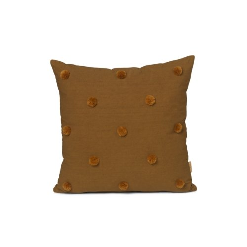 Ferm Living Dot Tufted Cushion in Sugar Kelp Mustard - Scandibørn