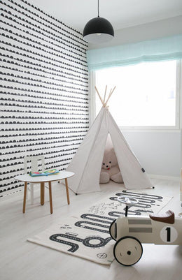 Ferm Living Half Moon Wallpaper - Black - Scandibørn