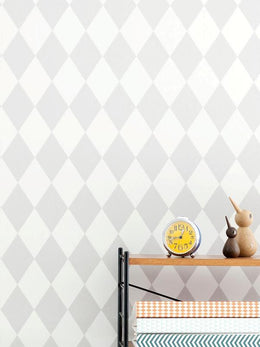 Ferm Living Harlequin Wallpaper - Grey - Scandibørn