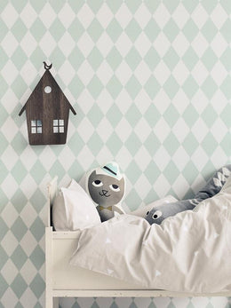 Ferm Living Harlequin Wallpaper - Mint - Scandibørn