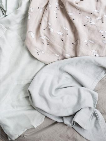 Ferm Living Muslin Cloths Swan Grey (set of 3) - Scandibørn