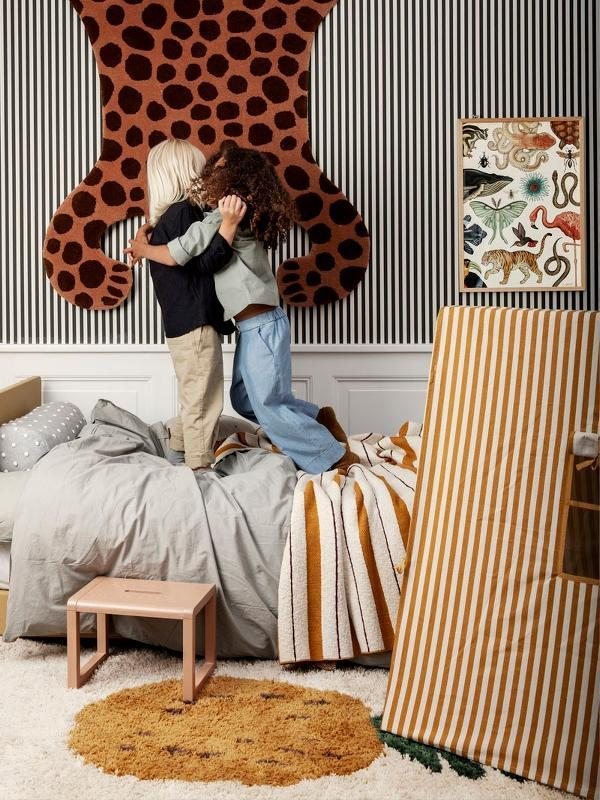 Ferm Living Mustard Striped Tent - Scandibørn
