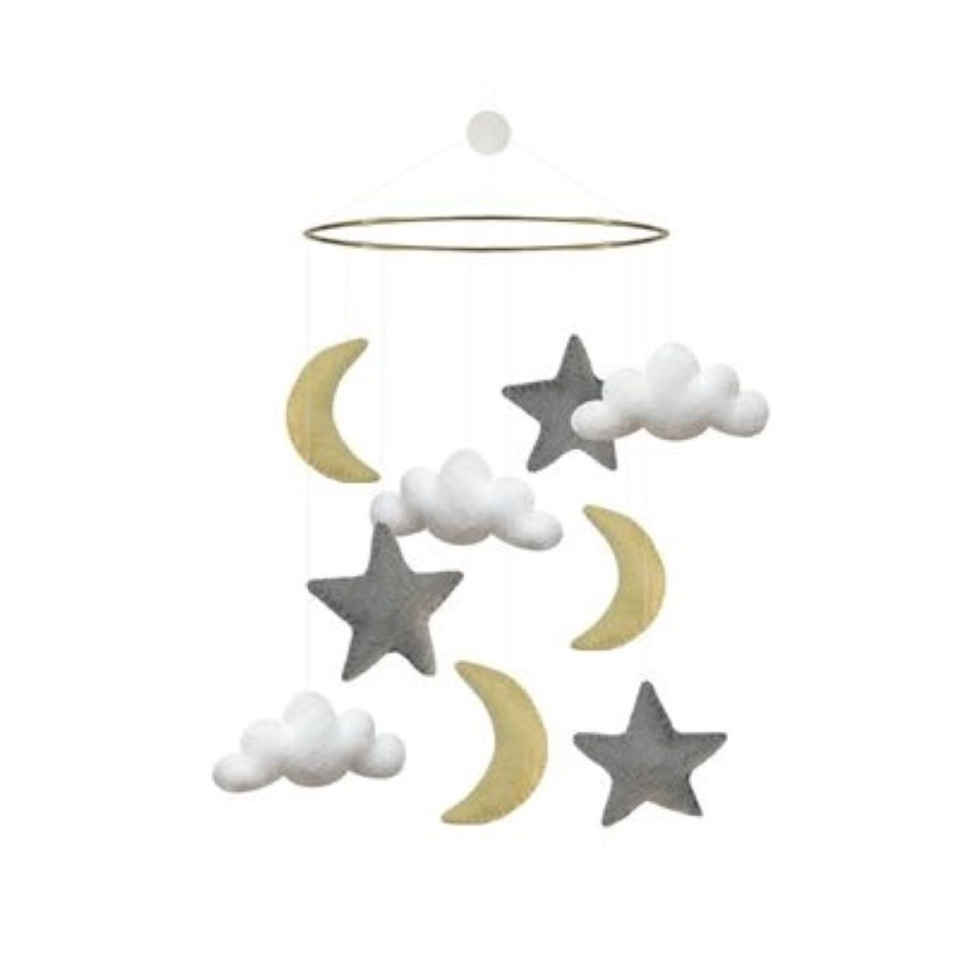 Gamcha Cot Mobile in Moon/Cloud/Star Mix