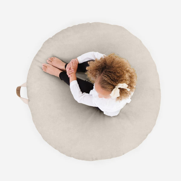 Gathre Large Circular Floor Cushion in Fog - Scandibørn