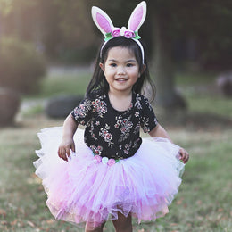 Great Pretenders Tutu Bunny with headband in Pink - Scandibørn