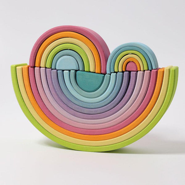 Grimm's Small Rainbow Toy in Pastel (6 Piece) - Scandibørn
