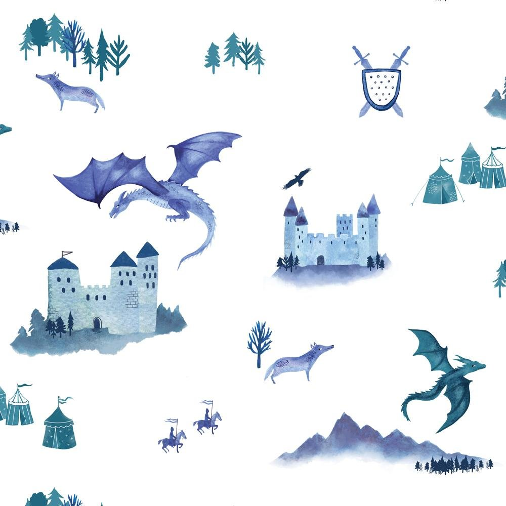 Hibou Home - Castles and Dragons wallpaper - Roll