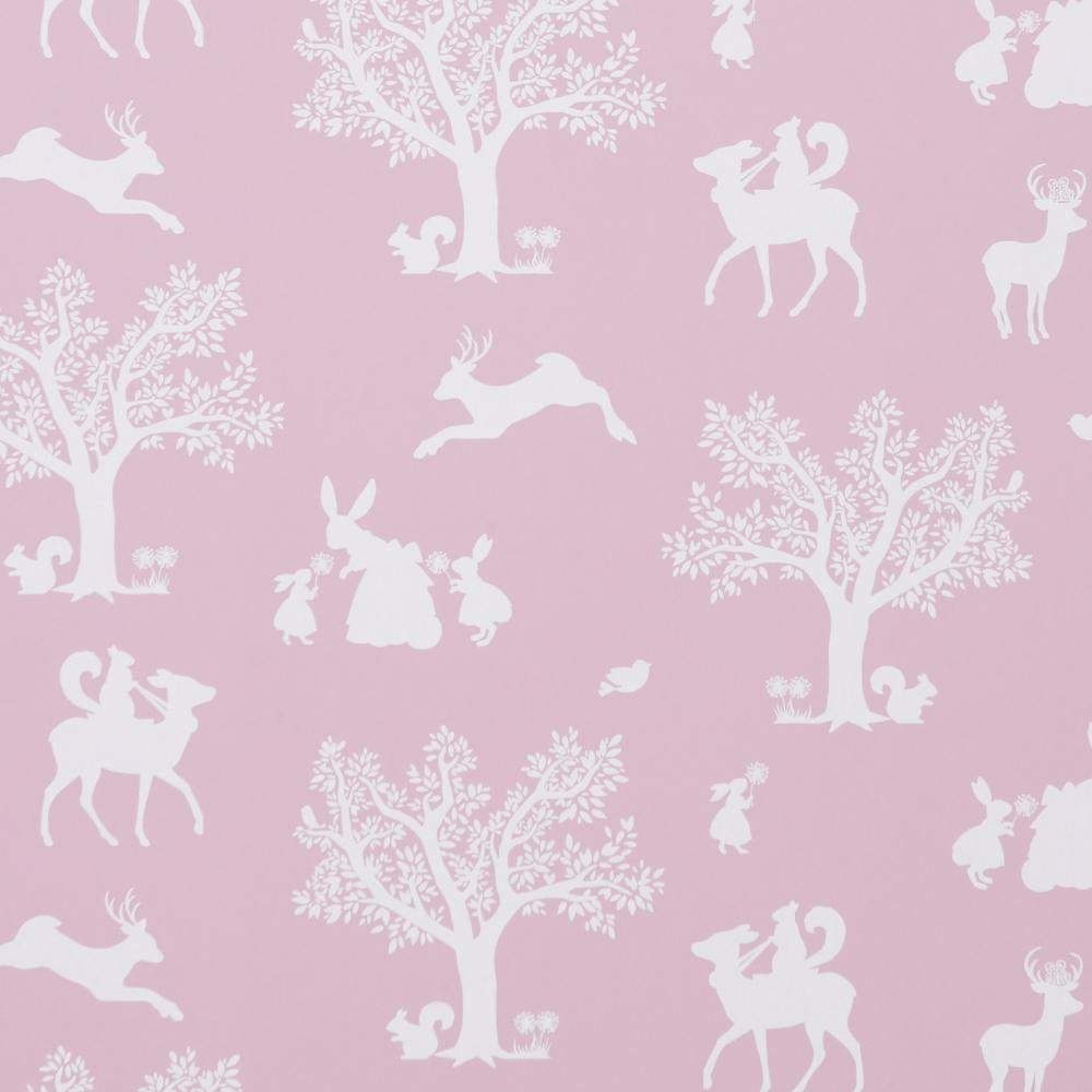 Hibou Home - Enchanted Wood wallpaper in Peony Pink - Roll