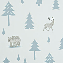 Hibou Home - Into The Wild wallpaper in Grey/Storm Green - Scandibørn