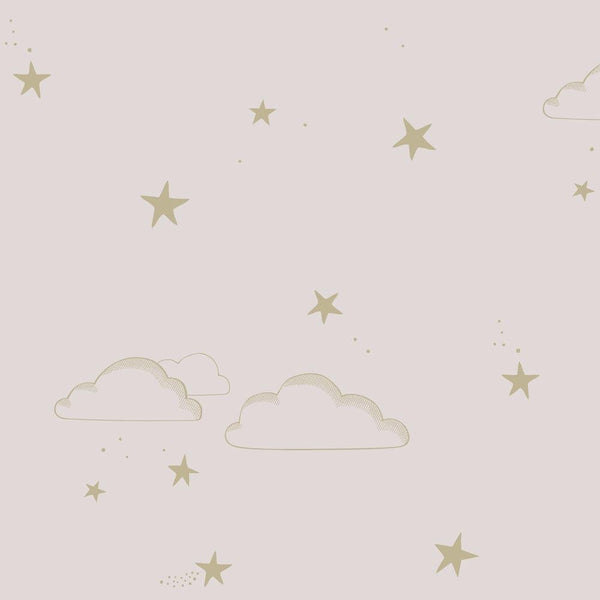 Hibou Home - Starry Sky wallpaper in Pale Rose/Gold - Scandibørn
