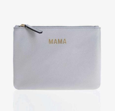 Jem and Bea Mama Clutch in Grey White