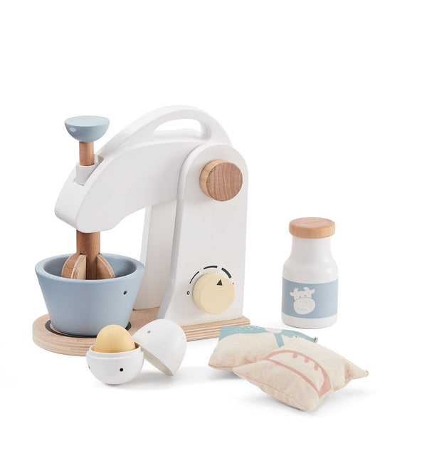 Kids Concept - Food Mixer Set in white / natural - Scandibørn
