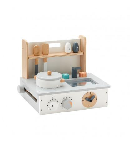 Kids Concept Mini Play Kitchen in natural - Scandibørn