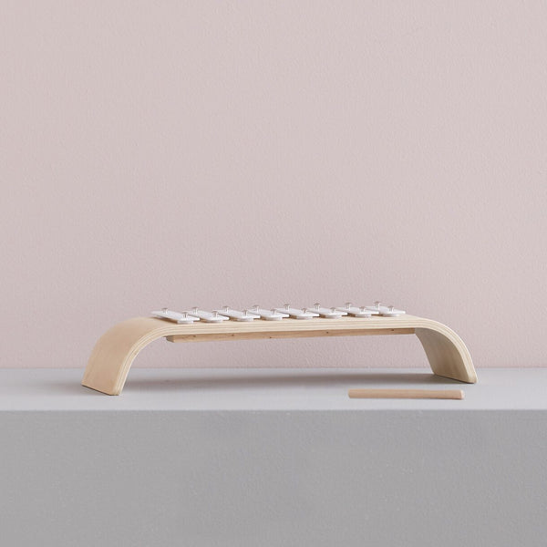 Kids Concept - Plywood Xylophone in White - Scandibørn